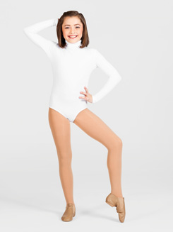 Girls Long Sleeve Turtleneck Dance Leotard