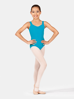 Girls Wide Strap Tank Leotard