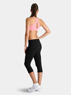Bloch Studio Active Cotton Spandex 3/4 Length Wide Band Leggings