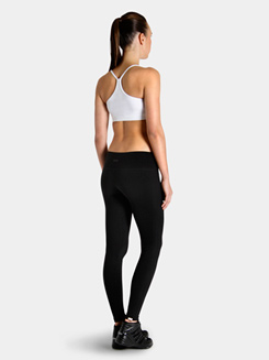 Bloch Studio Active Spandex Supplex Full Length Wide Band Leggings