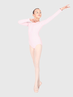 Child Cotton Blend Long Sleeve Dance Leotard