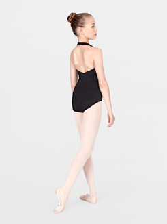 Child Cotton Blend Halter Leotard