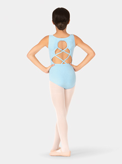 Girls Crisscross Back Tank Leotard