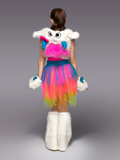 Snow Monster Girls Costume Set