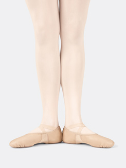 Girls Ultra Ballet Leather Neoprene Split Sole Ballet Slipper