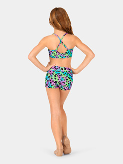 Girls Multi Leopard Print Camisole Bra Top