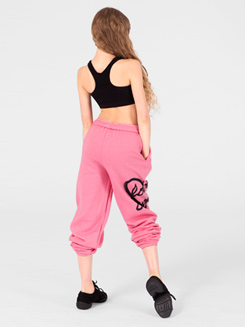 Adult and Child Love Dance Heart Sweat Pants