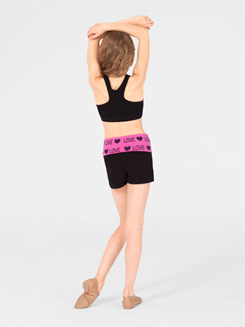 Adult and Child Bling Love Yoga Short