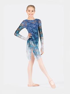 Girls Long Sleeve Lace Overdress with Thumbholes