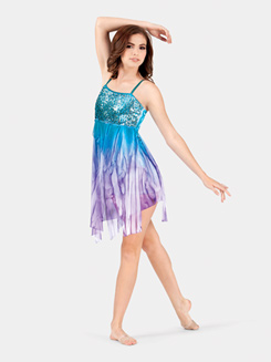 Adult Camisole Sequin & Mesh Dress