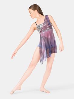 Girls Camisole Sequin & Mesh Dress