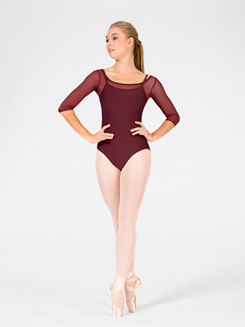 Odette Adult 3/4 Sleeve Leotard 