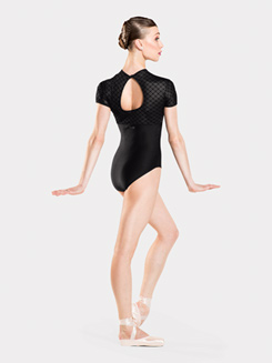 Adult Venus Diamond Velvet Cap Sleeve Leotard