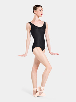 Adult Bethy Flocked Tank Leotard