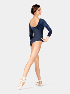Adult Bianca Long Sleeve Velvet Leotard