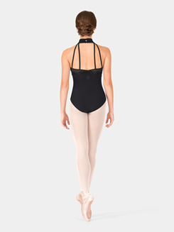 Adult Halter Wave Mesh Leotard
