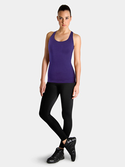 Studio Active Cotton Spandex Racer Back Tank Top