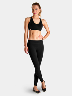 Bloch Studio Active Cotton Spandex Racer Back Crop Top