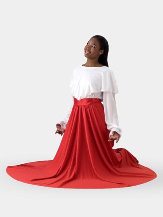 Girls Double Layer Worship Circle Skirt - Style No 0502