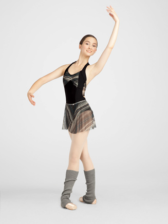 Tribalesque Adult Front Pleat Leotard - Style No 10070