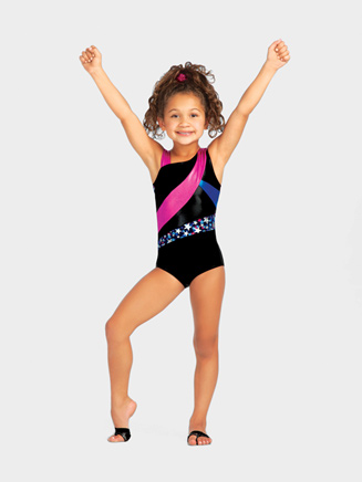 Stellar Child Asymmetrical Tank Leotard - Style No 10096C