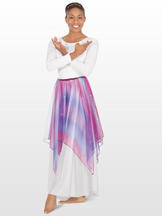 Eurotard Adult Lyrical Metallic Tulle Handkerchief Skirt