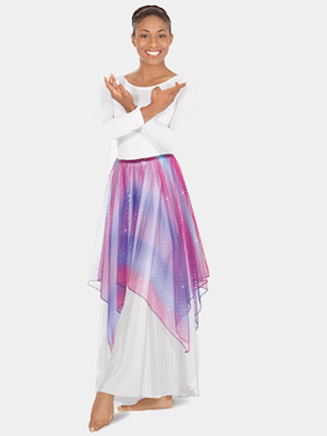 Eurotard Child Lyrical Metallic Tulle Handkerchief Skirt