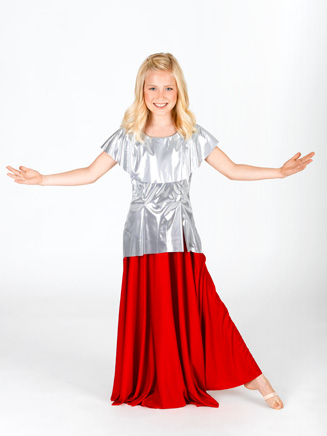 "Child Single Panel Circle Lyrical Skirt for Children (25"" Long) - Style No 13778K"