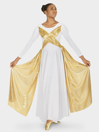 Eurotard Adult Metallic Overlay Dress