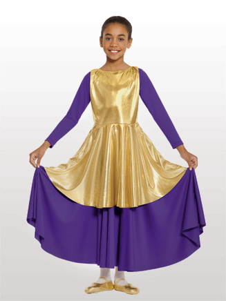 Child Metallic Peplum Tunic - Style No 14824C