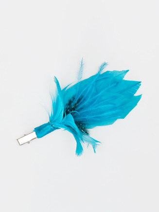 Small Feather Flower Clip - Style No 2338