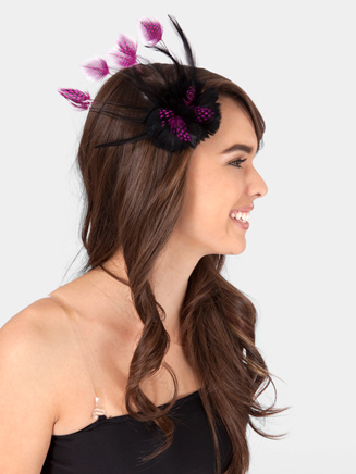 Double Feather Flower Hair Clip - Style No 2339