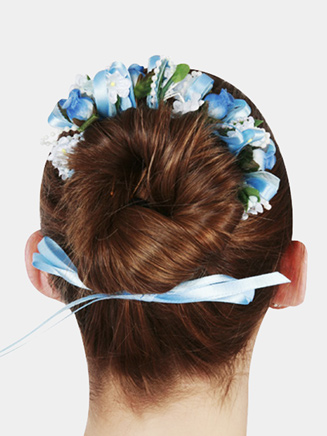Floral Bun Wreath - Style No 2390