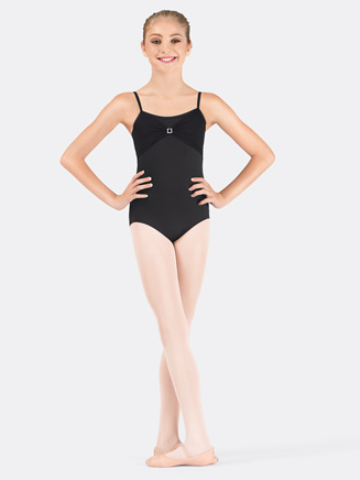 Girls Mesh Trim Camisole Dance Leotard - Style No 2432