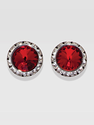 20MM Crystal Post Earrings - Style No 2708
