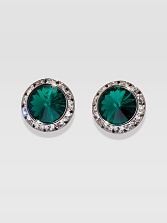 15MM Crystal Post Earrings - Style No 2710P