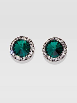 17MM Pierced Swarovski Crystal Earrings - Style No 2710P