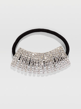 Stretch Rhinestone Ponytail Holder - Style No 2730