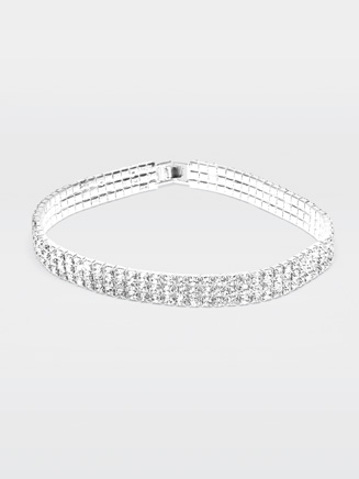 "13.75"" Rhinestone Elastic Choker - Style No 2792B"