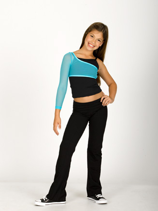 Child One Shoulder Mesh Shrug - Style No 3605
