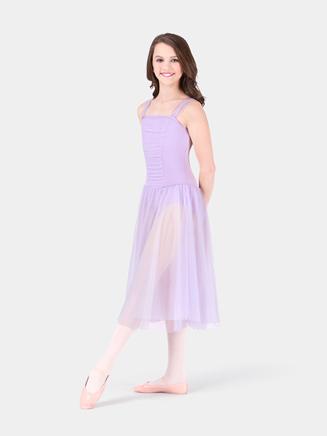 Body Wrappers Child Drop Waist Chiffon Dress
