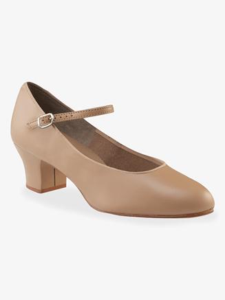 Capezio Suede Sole Adult Jr. Footlight 1.5 Heel Character Shoe