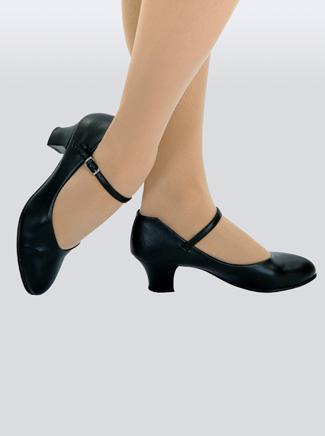 Capezio Leather Adult Jr. Footlight 1.5 Heel Character Shoe