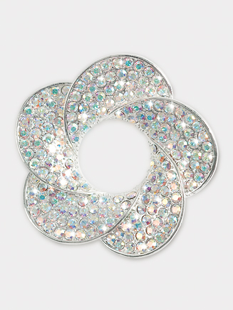 Rhinestone Flower Brooch - Style No 5PB