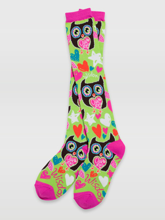 Owl & Stripe Knee Socks - Style No 72016
