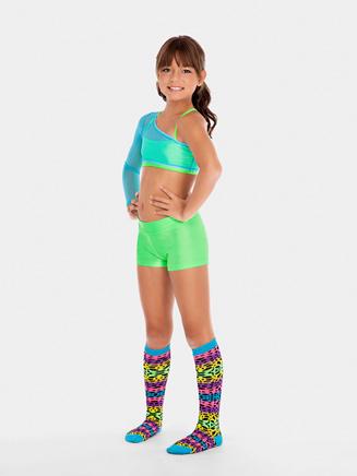 Three Cheers Neon Print Mix and Match Knee Socks