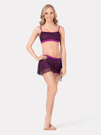 Camisole Bra Top with Glitter Overlay - Style No 7521