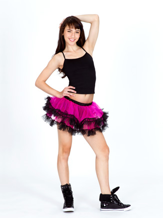 All About Dance Tutu Skirt With Black Trim And Bow