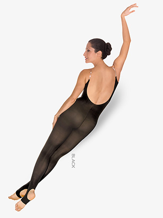 Stirrup Adult Body Dance Tight With Clear Straps - Style No A93