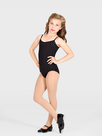 Girls Crisscross Camisole Dance Leotard - Style No AAD102C